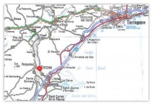 Tortosa 20 minutes off the coastline